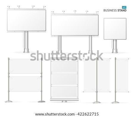Blank Business Stand Set  for Advertisement. Vector illustration Foto stock ©
