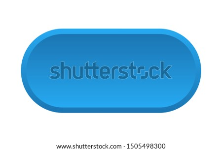 blank button. blank rounded blue sign. blank