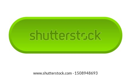 blank button. blank rounded green sign. blank