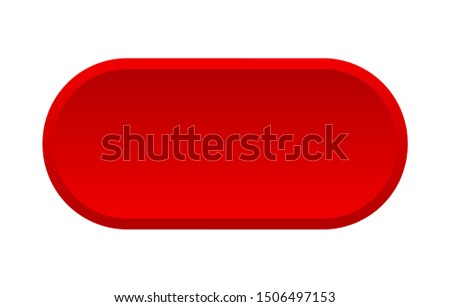 blank button. blank rounded red sign. blank