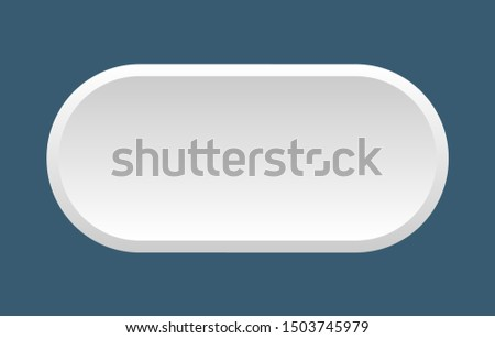 blank button. blank rounded white sign. blank