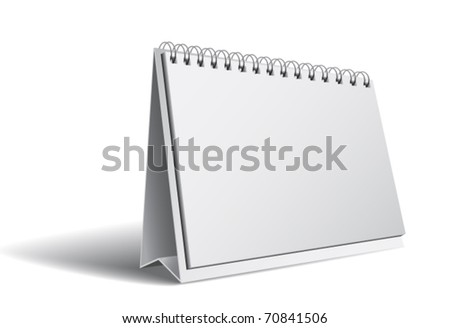 Blank calendar isolated on white