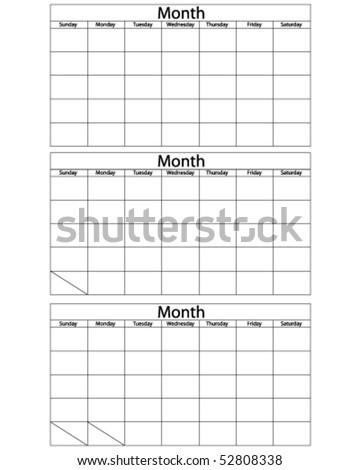 blank calendar template. stock vector : Blank Calendar