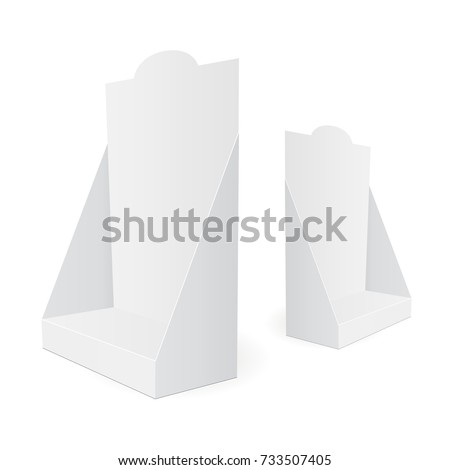 blank cardboard pos display
