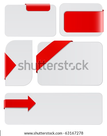 blank cards with red tags