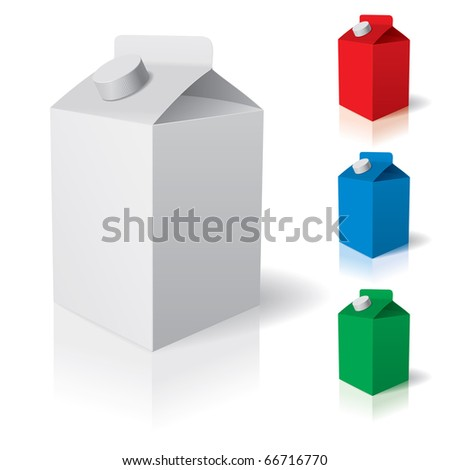 Blank carton isolated over a white background. Vector illustration