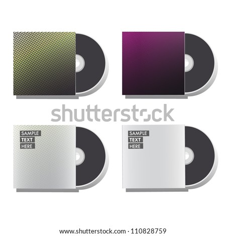 Blank cd isolated on white background. Collection vector design.