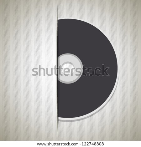 Blank cd isolated on white background. Vector design.
