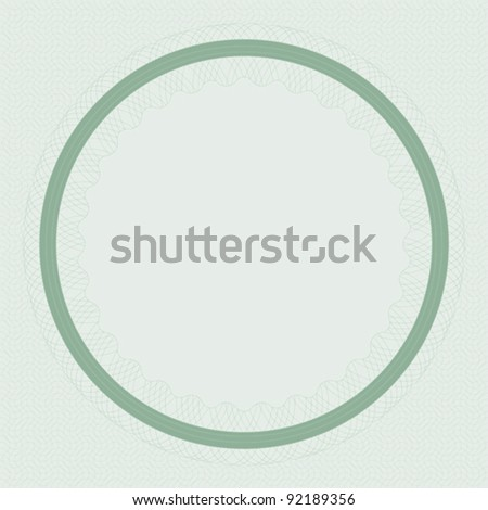 Blank Certificate Background in Shades of Green