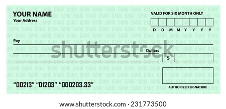 Bank Blank Cheque Blank Cheque Template
