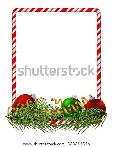 blank christmas border  candy