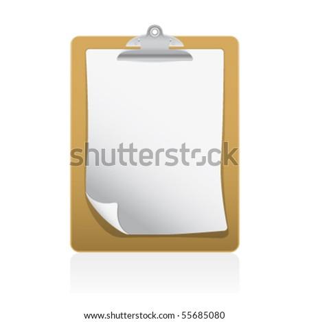 blank clipboard - stock vector
