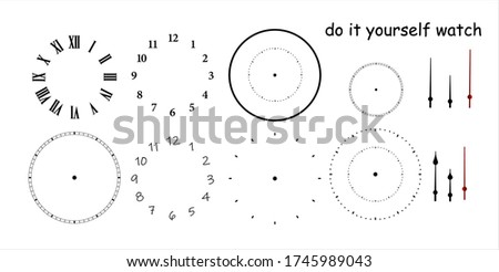 blank clock face with hour