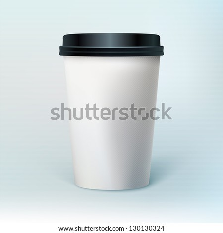 Blank coffee cup to represent your template desing.