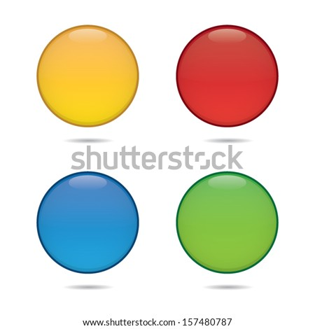 Blank Colorful Round Icons