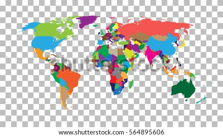 Colorful world map vector download free vector art stock blank colorful world map on isolated background world map vector template for website infographics gumiabroncs Choice Image