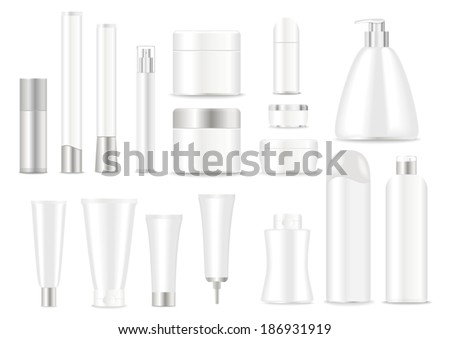 blank cosmetic tubes  on white