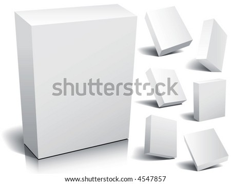 Blank 3d boxes, vector