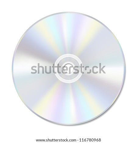 Blank disc on white with space for text. EPS10 vector format. - stock vector