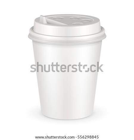 blank disposable paper cup with