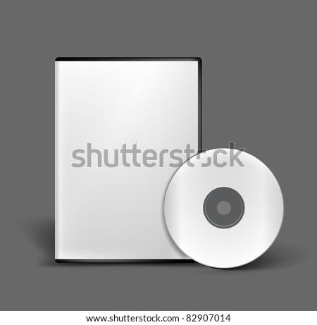Blank DVD case and disc vector design