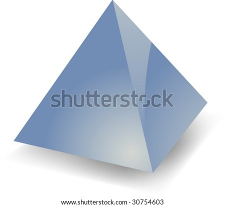 Blank empty 3d glossy pyramid shape illustration