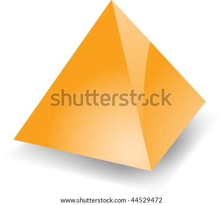 Blank empty 3d glossy pyramid shape illustration