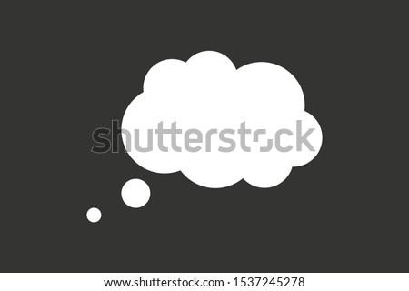 Blank empty speech bubble speak cloud vector. ストックフォト ©