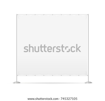 Blank Empty White Banner Billet Press Wall for Promotion, Marketing and Presentation Retail Business. Vector illustration of Symbol Ad