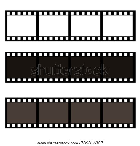 Blank film frame stock illustration. Image of frame vector illustration