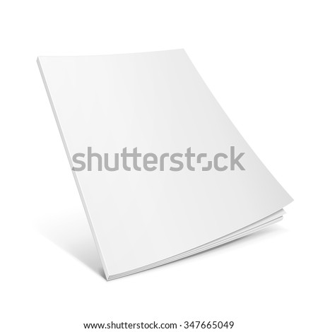 blank flying cover of magazine
