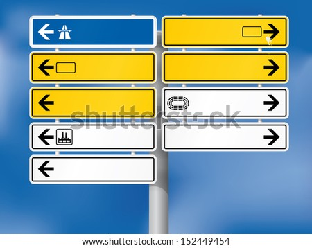 blank german directional signs