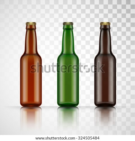 blank glass beer bottle for new