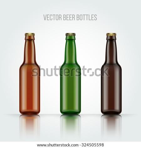 blank glass beer bottle for new
