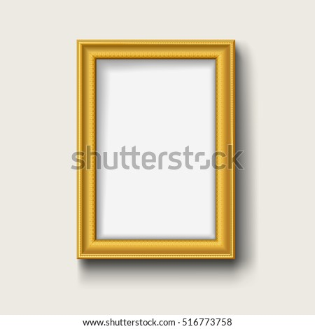 blank gold picture frame
