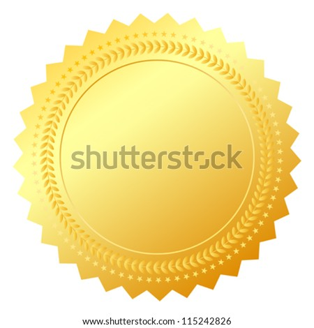 Blank gold token vector illustration