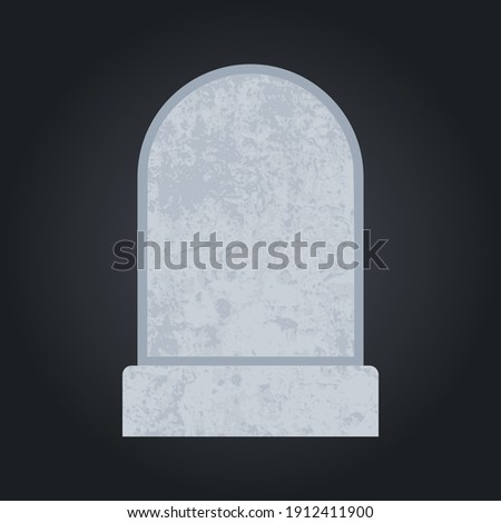 Blank grave stone. Empty cemetery headstone template for your design. Vector illustration. ストックフォト ©