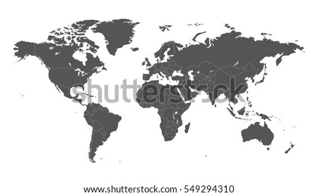 Worldmap silhouette free vector download free vector art stock blank grey political world map isolated on white background worldmap vector template for website gumiabroncs Gallery