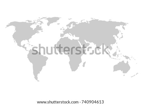 Flat world map vectors download free vector art stock graphics blank grey world map isolated on white background best popular world map vector globe template gumiabroncs Images