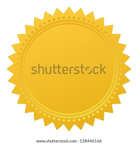 Blank guarantee vector element sign certificate