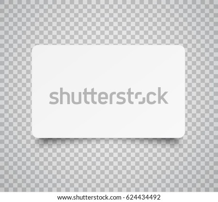 Simple clean business card vector design illustration download blank horizontal plastic paper business card or name card isolated on transparent background vector reheart Image collections