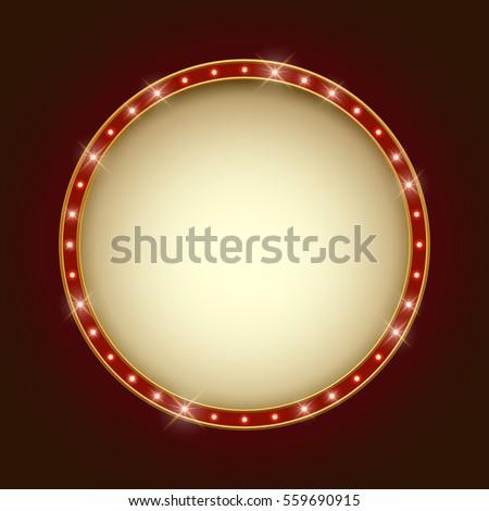 blank illuminated round marquee