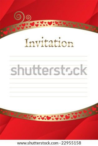 stock vector Blank invitation template vector