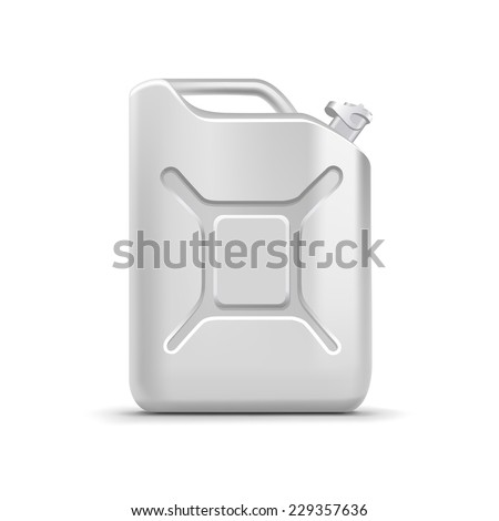 blank jerrycan canister gallon
