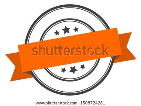 blank label. blank orange band sign. blank