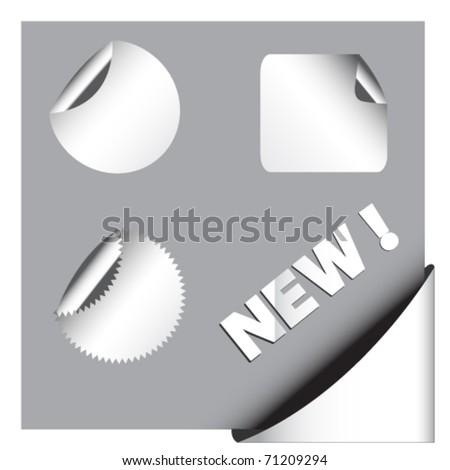 Blank labels and stickers,vector - stock vector