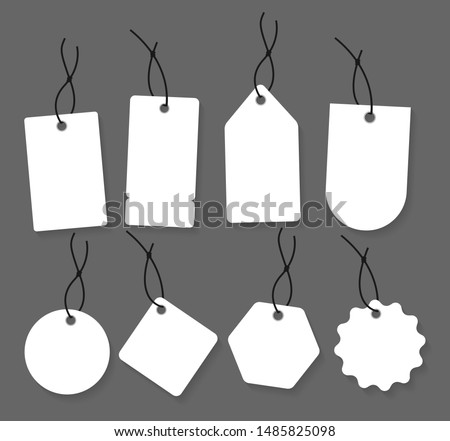 Blank labels template. Price tags set. Vector illustration