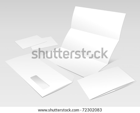 Blank Letter, Envelope, Business Cards and Booklet. Design Template for Corporate ID Presentation. Vector Illustration (EPS v.8.0)