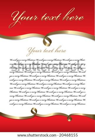 Blank letter. vector