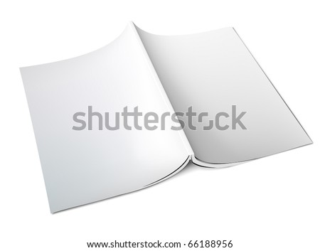 Blank magazine cover - stock vector